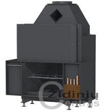 Židinys Brunner 50/66 virtuvinis atviro tipo su funkcijomis