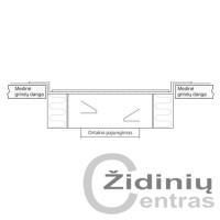 Tarpinis rėmelis grindinėms grotelėms 225x225